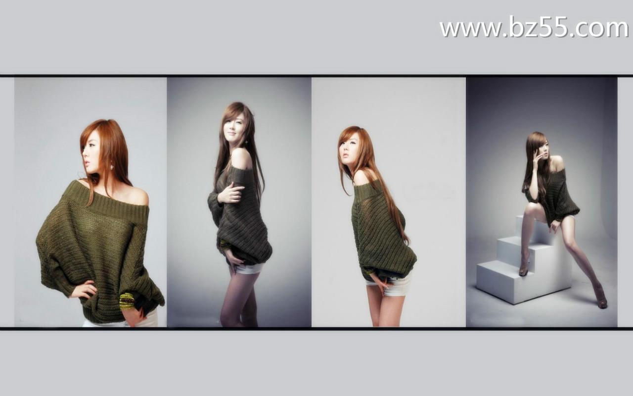韩国超人气美女黄美姬桌面壁纸