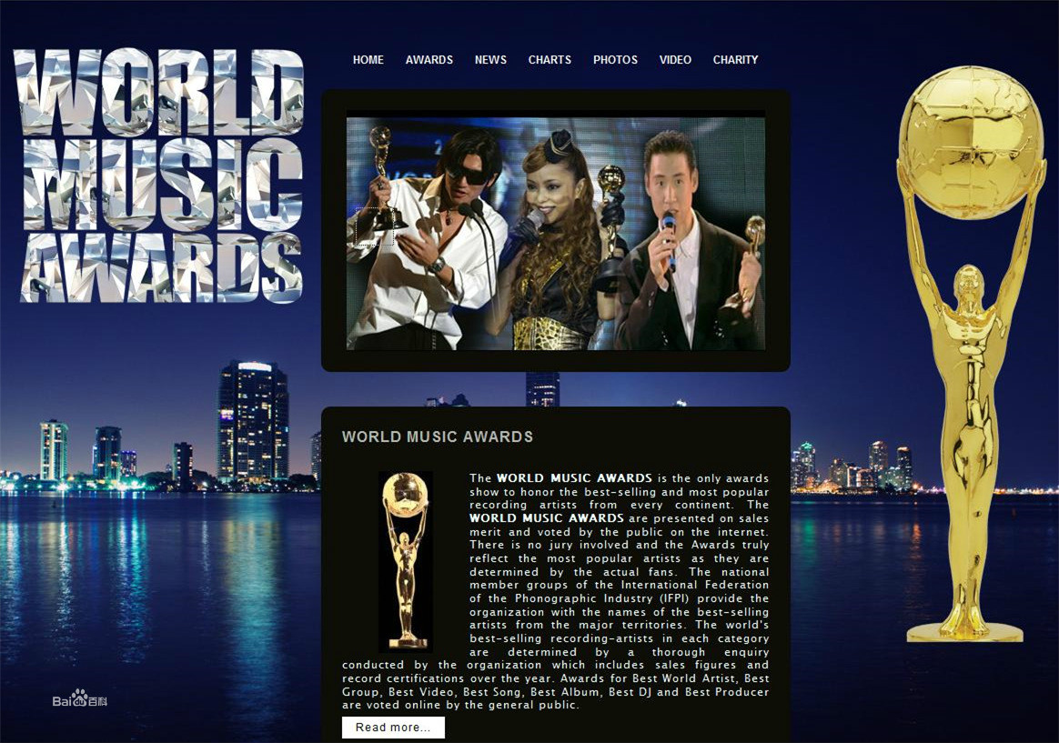 21���л�����ڡ�World Music Awards���ֳ�