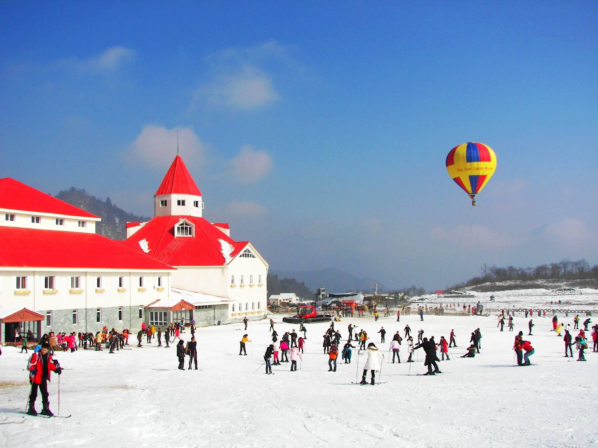 西岭雪山滑雪场(冬季)