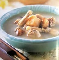 参百合红枣田鸡汤