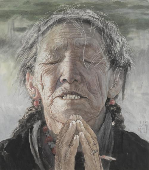 作品曾在第八届,第九届,第十届全国美展中获奖.图片