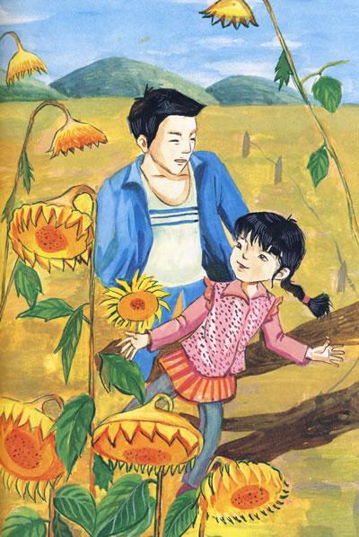 《青铜葵花》这篇小说主要写了一个男孩和一个女孩的故事,男孩叫青铜图片