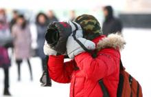 实拍内蒙古再现极寒天气