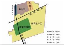 集南村地理位置及产业功能分区规划图