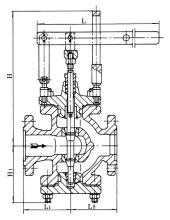 减压阀,采用隔膜型水力操作方式,可水平或垂直安装于给水,消防系统或图片
