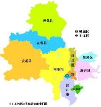泉州行政区图