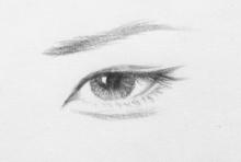 各种眼型手绘草图