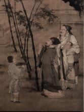 明代杜堇绘《苏轼题竹》
