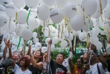 马来西亚举行纪念马航MH370遇难者活动