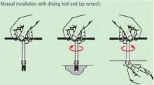 自攻螺套专用安装方法