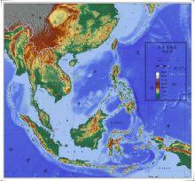 东南亚地形图