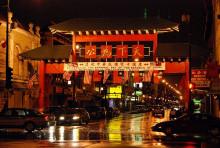 芝加哥中国城牌楼
