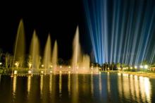 南山文化旅游区夜景