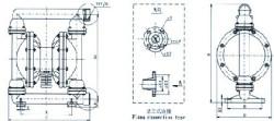 涂料隔膜泵是一种由膜片往复变形造成容积变化的容积泵,其工作原理图片