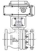 5mpa   三片式zajq电动调节丝扣式球阀 外形尺寸   公称通径dn g l h图片