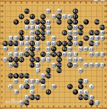 李世石阿尔法围棋人机大战棋谱图片
