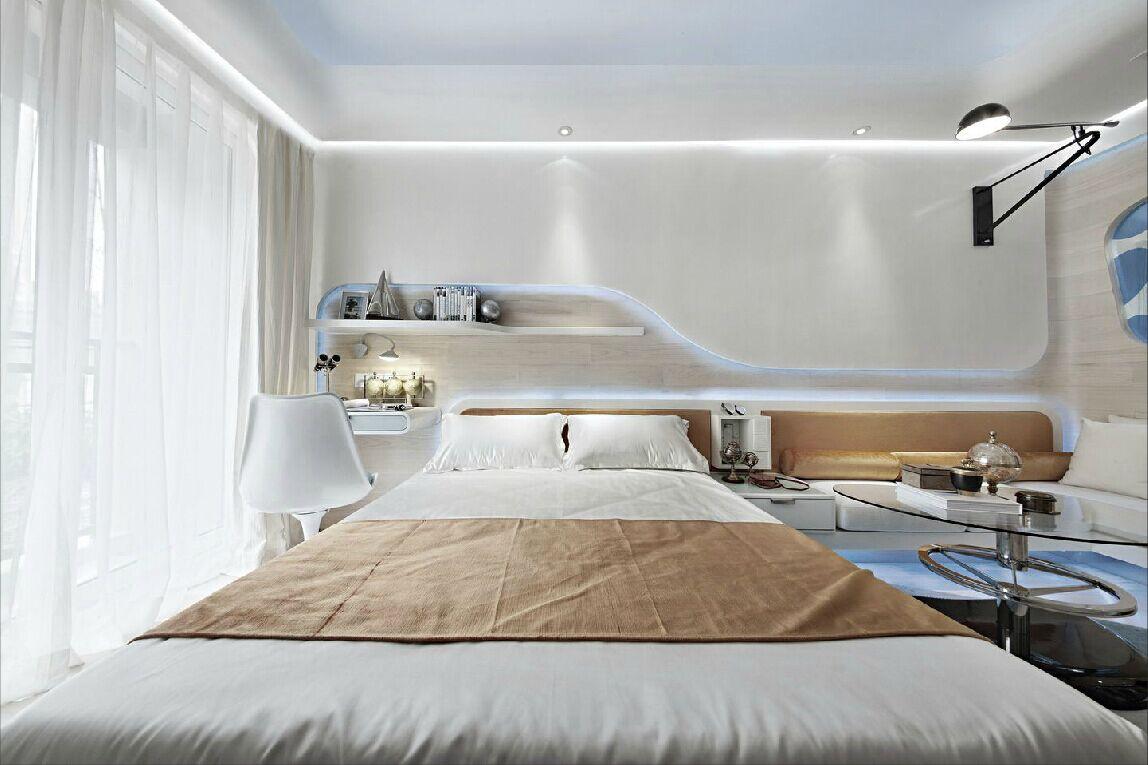 北欧风格装修卧室效果图大全2015图片