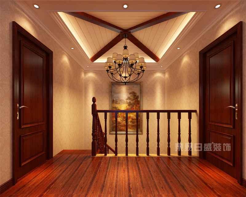 中信公园城美式楼梯间装修效果图图片