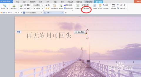 a4纸word文档/wps文字 如何添加全背景图片水印图片