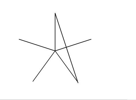 教你用flash画一个标准的五角星!图片