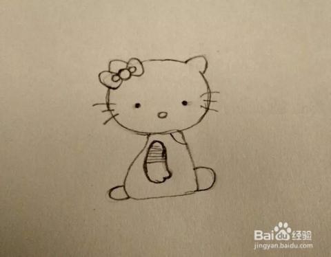 """简笔画:手绘铅笔画卡通""""hello kitty凯蒂猫"""""""