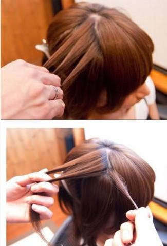 教你如何扎简单头发图片