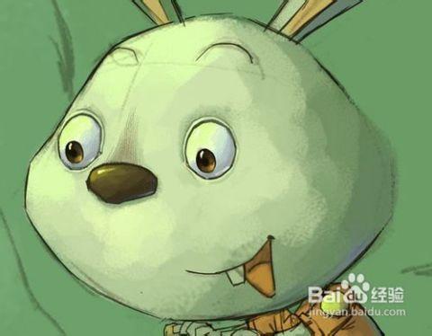 """看!小任用ps绘制""""森林里的小兔子""""图片"""