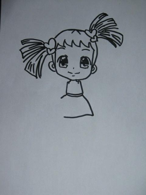 好看小女孩画