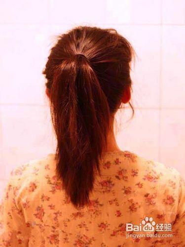 长发的扎法图解图片