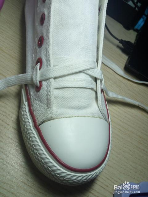 花式鞋带之梯形结图片