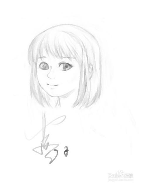 手绘板ps绘画画条通往家的路之十八:头发的画法图片