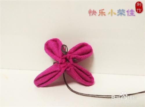 不织布手工:蝴蝶发圈和花朵发圈图片