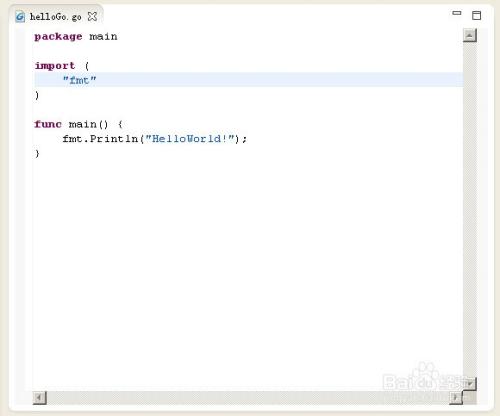 基于Eclipse的Go语言可视化开发环境