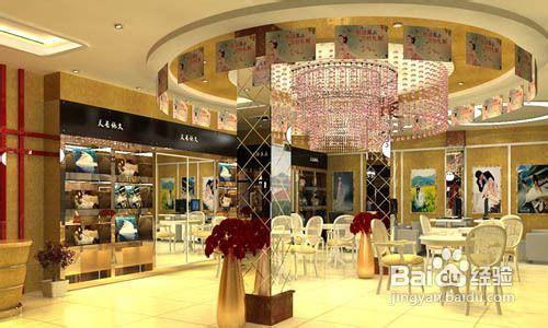装饰这个空间.下面以婚纱影楼店的橱窗设计为例,说说这类店