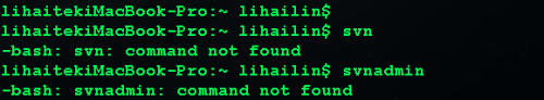 mac os x系统上svn 命令可用