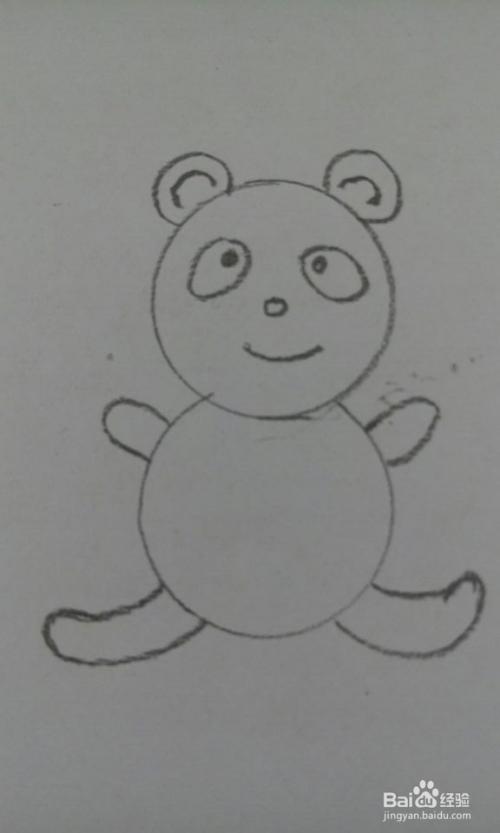 简笔画-萌萌哒小熊猫图片