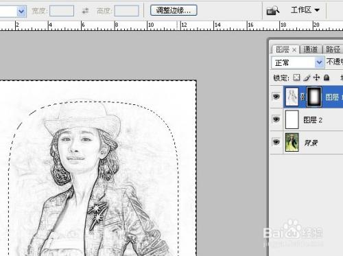 用ps将人物照片转换成素描效果图片