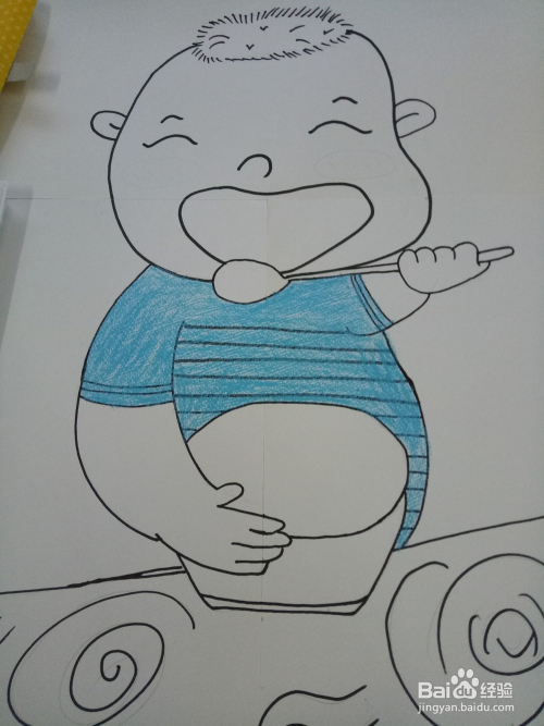 如何画出娃娃吃饭的简笔画图片