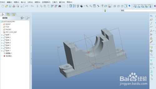 如何快速的将proe 3D图转AutoCad 2D工程图图片