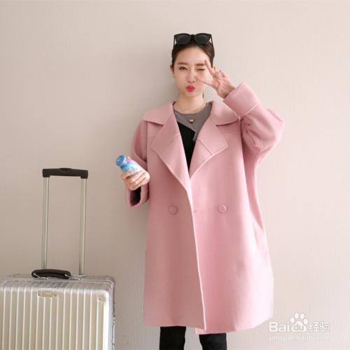 粉红色大衣如何搭配_搭配 大衣 风衣 外套 500_500