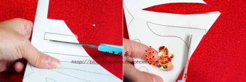 如何剪窗花(心形春字)图片