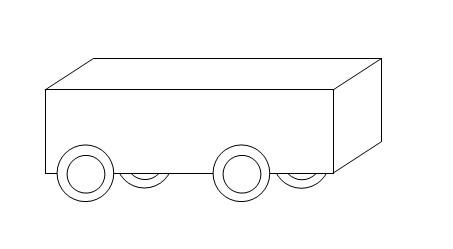 用word绘图工具绘制图形:[19]实验小车图片