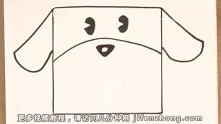【儿童节】正方形简笔画|小狗|公鸡|小鸟图片