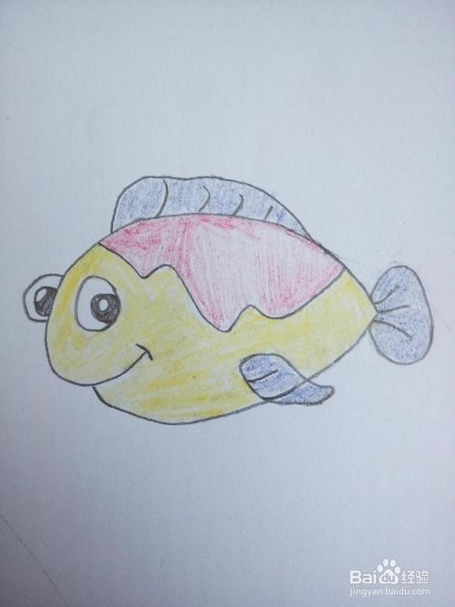 如何简笔画一只有立体感的热带小鱼