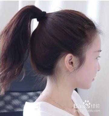 没有刘海怎样扎头发好看图片