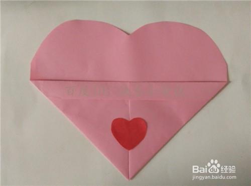 教师节折纸之心形贺卡图片