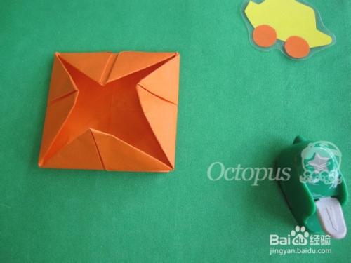 幼儿园折纸:[4]简易相框贴花图片