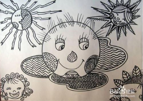 儿童线描画教程图片