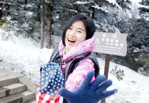 女生拍照如何雪中拍照 如何拍雪景 本人演示高清图片