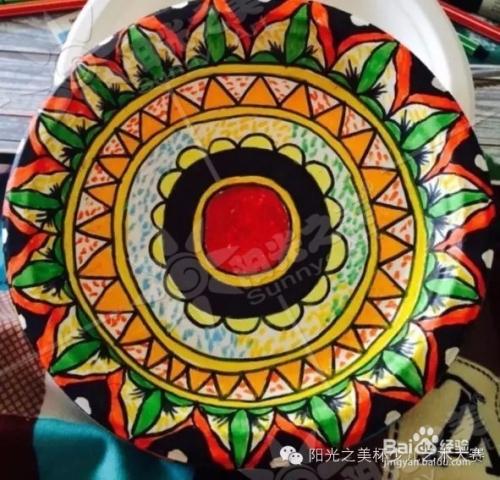 可以是不同颜色的圆圈,花朵,太阳等~ 4 脸谱系列,钢笔手绘黑白装饰画图片